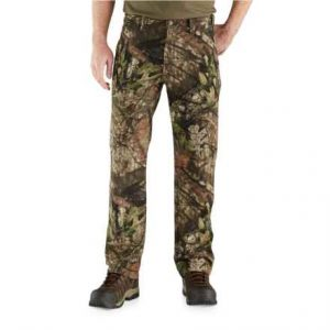 12c989f5ec42 Carhartt Men s Camo Washed Duck Dungaree Pants are some of the best pants  for hunting considering their overall durability.